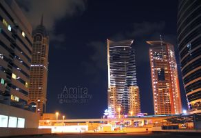 night Dubai streets 2 by amirajuli