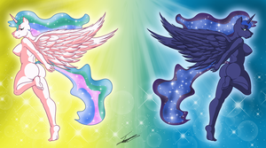 Sisters Sun and Moon by paladin095