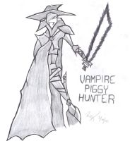 Vampire Piggy Hunter by AelVampire