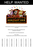 Five nights at Freddy's - Job application poster by zeldaddicted