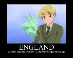 England and his Flying Mint Bunny by LUVCHIBI1357