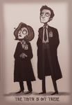 X Files in Tim Burton style by Super-Cute