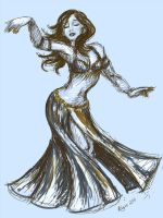 Vintage Belly Dancer by AsharahArt