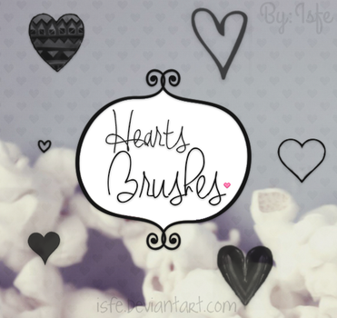 Heart Brushes by Isfe