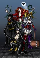 Batman Girls by Valaquia