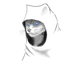 Hooded Cat by Morganicism