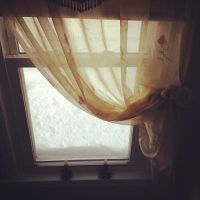 coffee, curtains, and snow by fotomademoiselle