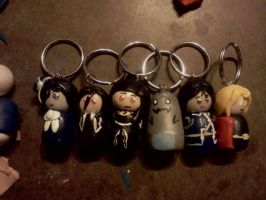 Assorted Keychains by ChihayatheBlackAngel
