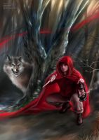 Little Red Riding Hood and Big Bad Wolf by daekazu