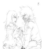 Kakashi and Anko_Sketch by KickBass77