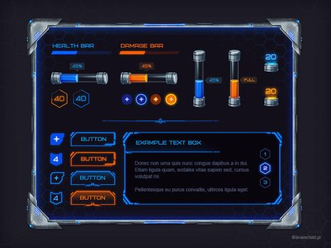 Sci-fi GUI set by brainchilds