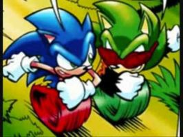 Sonic Vs King Scourge by LukeVei-Da-Hedgehog