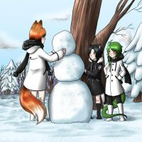 Do you wanna build a snowman ? by kiba-chan27