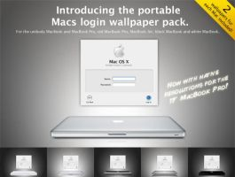 Portable Macs login wallpapers by tyralion