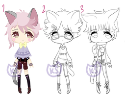 [OPEN!] Point Cat Boy Adoptables! by kittenspines