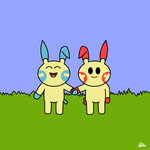 Plusle and Minun by BumpyBoo