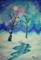 Winter Whispers (acrylic) by AlexandraDart