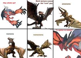 Wyverns are mean. by legostormj