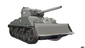 M4a3e8 Sherman With M2 Plow by benracer