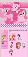Pinkie Pie Journal Skin: On Sale! by LadyGloomy