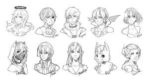 Headshots batch VI by c-r-y-s