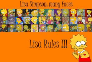 Lisa many faces by fansimpson996