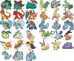 Pokemon Stickers for Etsy by DJ-Professah-K