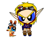 JAK AND DAXTER-Power Puff style by KIERAMANDY