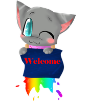 .:PC:. Nyan cat's welcome by Meowy-Pixel