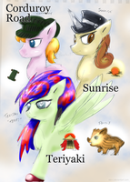 MLP the three caballer'OCs by Ste-C