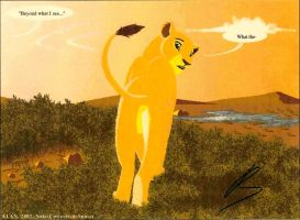 Nala in the sunset by Alan-the-leopard