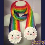 Rainbow and Clouds Scarf - Smiles by ManifestedDreams