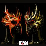 Flaming Duo by KNt-Masks