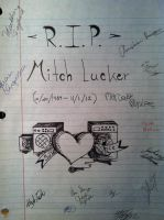 R.I.P. Mitch Lucker by MoonlightsEyes