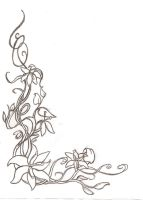 Floral Corner-Border - Sketch by Shaunery