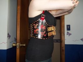 Steampunk Dragonmarked Chest Harness Side view 1 by Ceraine