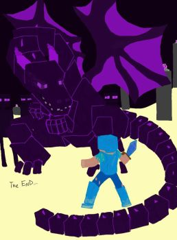Minecraft:The Enderdragon by Die-Laughing-coloured by 0spore13