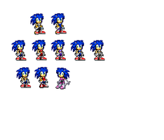 Female sonic sprites clothes test by mechaelite