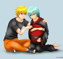 Request: Pregnant Fu being comforted by Naruto by PRoachHeart-Sasuke