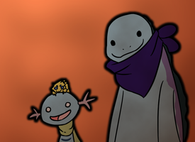 Quagsire and Buds by NoneToon