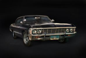 '67 Chevy Impala (digital painting) by ThreshTheSky