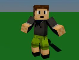 Steve Minecraft with cinema 4D by BastienLink