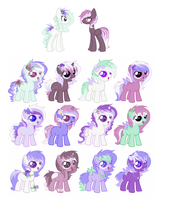 AquaLilly and HeartThrob 3 left by SeaStarOceans