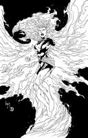 Dark Phoenix inks by BDStevens