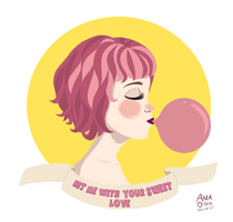 Bubblegum Bitch by anaodio