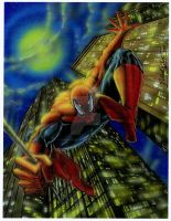 Spider Man pinup by Ricardofantasyart