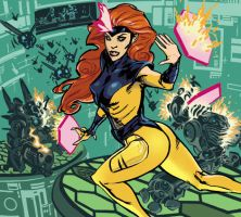 Jean Grey in the Danger Room by whoisrico