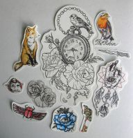 Tattoo Flash by youbesonicimtails