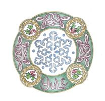 Yule Mandala by Spiralpathdesigns