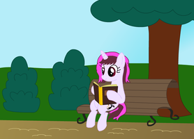 OC Request: Melody Paint - Reading in the park by IronwoodAKACleanser